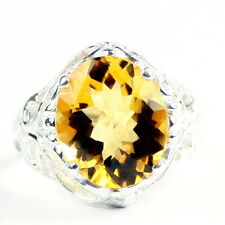 Citrine, Solid 925 Sterling Silver Ladies Ring, SR114-Handmade