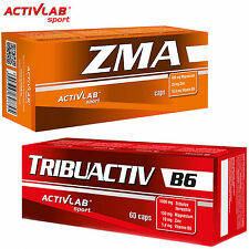 ZMA 60Caps + Tribuactiv B6 60Caps Testosterone Booster Hormone Support Recovery