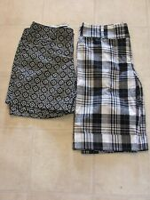 Womens Shorts Lot of 2 Casual Dress Black & White Size 3/4 4 NWOT