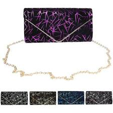Women Lady Printed Evening Envelope Clutch Bag Purse Chain Shoulder Bag Handbag