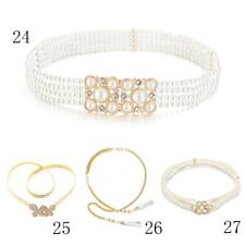 Women's Crystal Rhinestone Belt Pearl Chain Belt Hip Waist Belt Dress Prom Decor