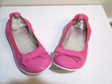 Lelli Kelly USA Fuchia Pink Neon Patent Leather Tween Shoes Flats NIB 3 4 Youth