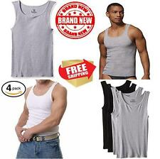 Hanes Mens 4 Pack FreshIQ Assorted A Shirt Black Grey X Large Boys undershirts