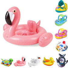 Summer Cute Toddler Baby Kids Swimming Pool Inflatable Swim Float Seat Canopy