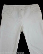 New Womens Off White Cream NEXT Jeans Size 16 14 12 10 Long Regular