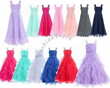 Flower Girl Princess Junior Pageant Party Dance Wedding Birthday Ball Gown Dress