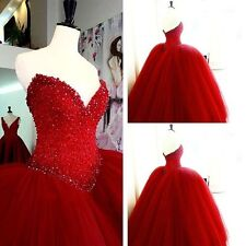 Beading Quinceanera Dress Strapless Prom Pageant Dresses Bridal Ball Gown Custom