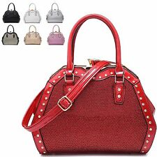 Ladies Designer Patent Glitter Handbag Diamante Gem Clasp Shoulder Bag MX-1734
