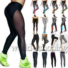 Womens Ladies Yoga Fitness Leggings Running Gym Exercise Sports Pants Trousers