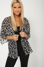 Ladies New Style Short Sleeve Polka Dot Tulle Cardigan - Womens Knitwear Jumper