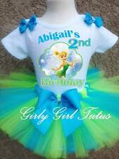 Baby Girl Tinkerbell 1st and 2nd Birthday Tutu Outfit Party Dress Set