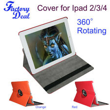 360 Degree Rotating PU Leather Smart Cover Case Stand For iPad 2 3 4