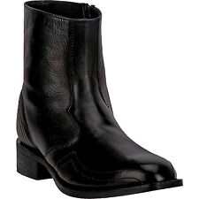 Laredo Mens Black Hoxie Goat Leather Cowboy Boots 7in French Toe Ankle