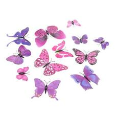 12 Pcs 3D Butterfly-Shaped Art Decal Home Decor Mural Wall Stickers