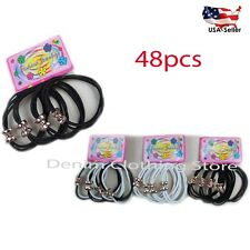 48pcs Women Elastic stretch Hair Ties Bands Rope Ponytail Holders Wholesale Lot