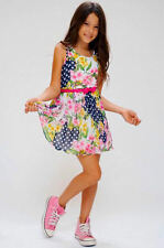Truly Me by Hannah Banana Sweet Summer Chiffon Floral Girls Dress NWT  6 6x