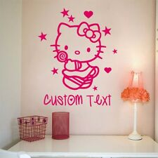 2017 New Hello Kitty Wall Sticker Personalized Decal Removable Decoration Nurser