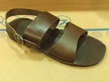New Mens Ancient Greek Leather Sandals Handmade Roman Gladiator Shoes Flip Flops