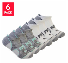 Ladies Puma No Show Socks Two 6 Packs, 12 Pairs, White Women's Socks 9-11 New