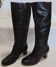 """Old Maine Trotters Boots , Brown, Zippered , Size: 6 1/2, Shaft Height: 14"""","""