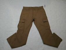 OLD NAVY REGULAR CARGO PANTS MENS SIZE 32X30 LIGHT BROWN ZIP FLY NEW WITH TAGS