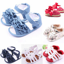 Baby Girl Kids Summer Cute Soft Sole Crib Shoes Toddler Infant Prewalker Sandals