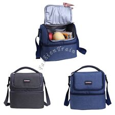 Daul Compartment Insulated Lunch Bag Cooler Lunch Box Tote School Work Picnic
