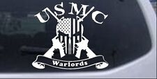 USMC Marine Corps Warlords Punisher US Flag AR15 Car Truck Window Decal Sticker