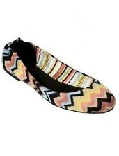 Missoni for Target Girls Children Ballet Flats Shoes Multi Colored Brown Zigzag
