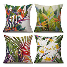 Colorful Leaves Cotton Linen Throw Pillow Case Sofa Cushion Cover Home Decor 18""
