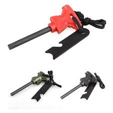 Emergency Survival Tool Kit Fire Starter Magnesium Rod Flint Striker Stone