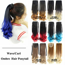 Bado Wave Ombre Synthetic Hair Ponytail Extension Drawstring Clip In Hairpiece