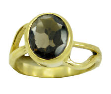 Smoky Quartz Gold Plated Ring pretty Brown handcrafted AU K,M,O,Q