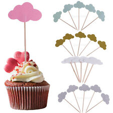 50x Mini Cloud Cupcake Toppers Cake Food Picks Party Decor Event Wedding Favors