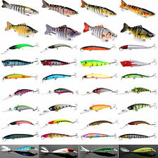 Soft Minnow Fishing Lures Crank Bait Hook Floating Rattles Bass Crankbait Tackle