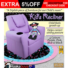 Luxury Kids Recliner Sofa Children Lounge Chair Padded PU Leather Arms