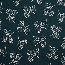 Quilt Fabric Calico Cotton Quilting Dark Teal Floral-Fat Quarters & Cut-to-Order