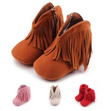Tassels Hot Toddler Soft Soled Newborn Infant New Boots Anti-slip Baby Shoes