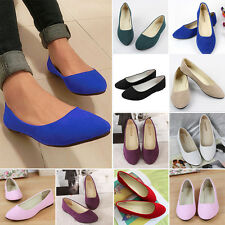 Women's Ballet Flats Ballerina Slippers Faux Leather Casual Slip On Boat Shoes