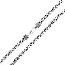 3mm Byzantine Bali Handmade Solid 925 Sterling Silver Chain Necklace