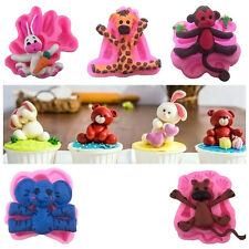 Cool 3D Animal Silicone Fondant Chocolate Mould Cake Decor Icing Sugarcraft Mold