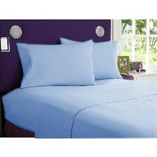 1200 TC Egyptian Cotton UK-Emperor Size Select Bedding Items Sky Blue Solid