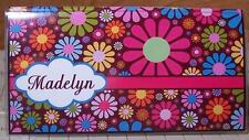 Personalized Multi-color flowers Checkbook Cover gift ideas! FREE SHIPPING
