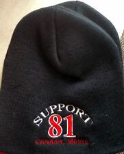 HELLS ANGELS CANAAN MAINE SUPPORT BLACK BEENIE