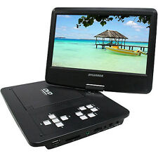 "Sylvania 10"" Portable DVD Player with Swivel Screen and Built-in Extended Life"
