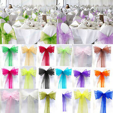 Organza Sashes Wedding Decoration Party Chair Covers Decor Fuller Bows Banquet