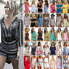 Boho Women Holiday Shorts Jumpsuit Casual Summer Beach Dress Romper Playsuit Top