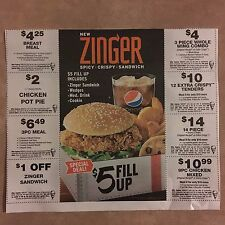 (8) Kentucky Fried Chicken KFC Meal & Food Coupons Exp. 5/31/17