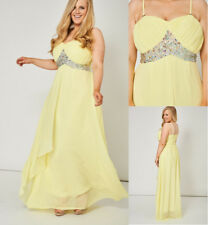 Pale Yellow Pleated Bust Gem Embellished Bandeau Strapless Maxi Dress Opt Straps