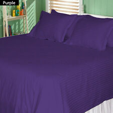 New Bedding Collection 1200TC 100%Egyptian Cotton All UK-Sizes Purple Striped